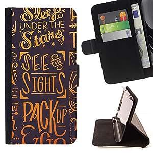 Momo Phone Case / Flip Funda de Cuero Case Cover - Sleep Estrellas Dreams Slogan Cita Arte - LG G4c Curve H522Y (G4 MINI), NOT FOR LG G4