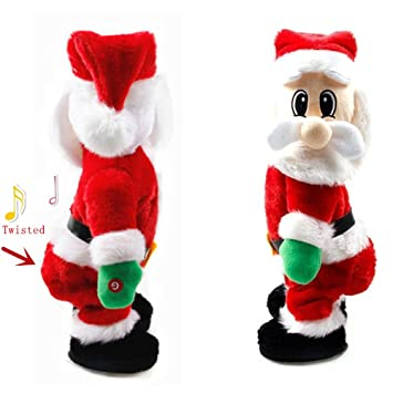 funny christmas santa claus twisted hip twerking singing ornaments best christmas presents gifts for children