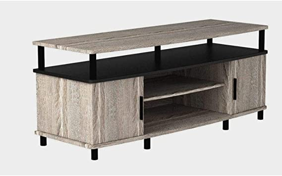 Amazon Com Ghy 50 Rustic Tv Stand Gray Oak Narrow Large Wooden
