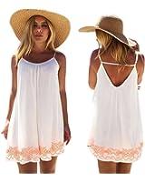 FAPIZI Women Dress ♥ Women Backless Short Summer Beach Mini Dress Sundress