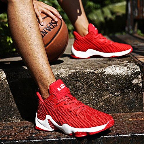 Nr. 66 Stad Paar Heren Dames Vliegknit Tennis Loopschoenen Sneaker, Basketbalschoenen Rood