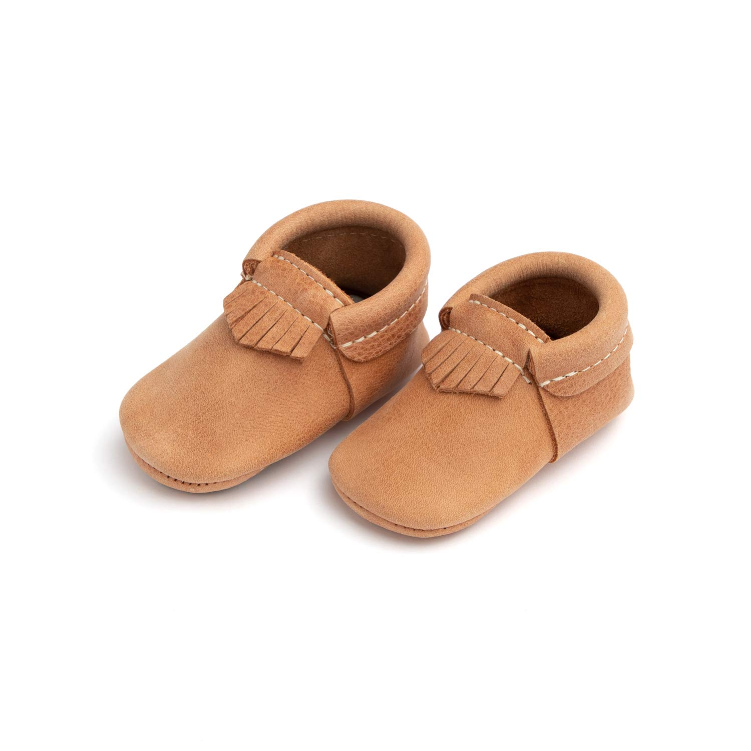 Freshly Picked - Rubber Mini Sole Leather City Moccasins - Toddler Girl Boy Shoes - Size 3 Zion Tan by Freshly Picked