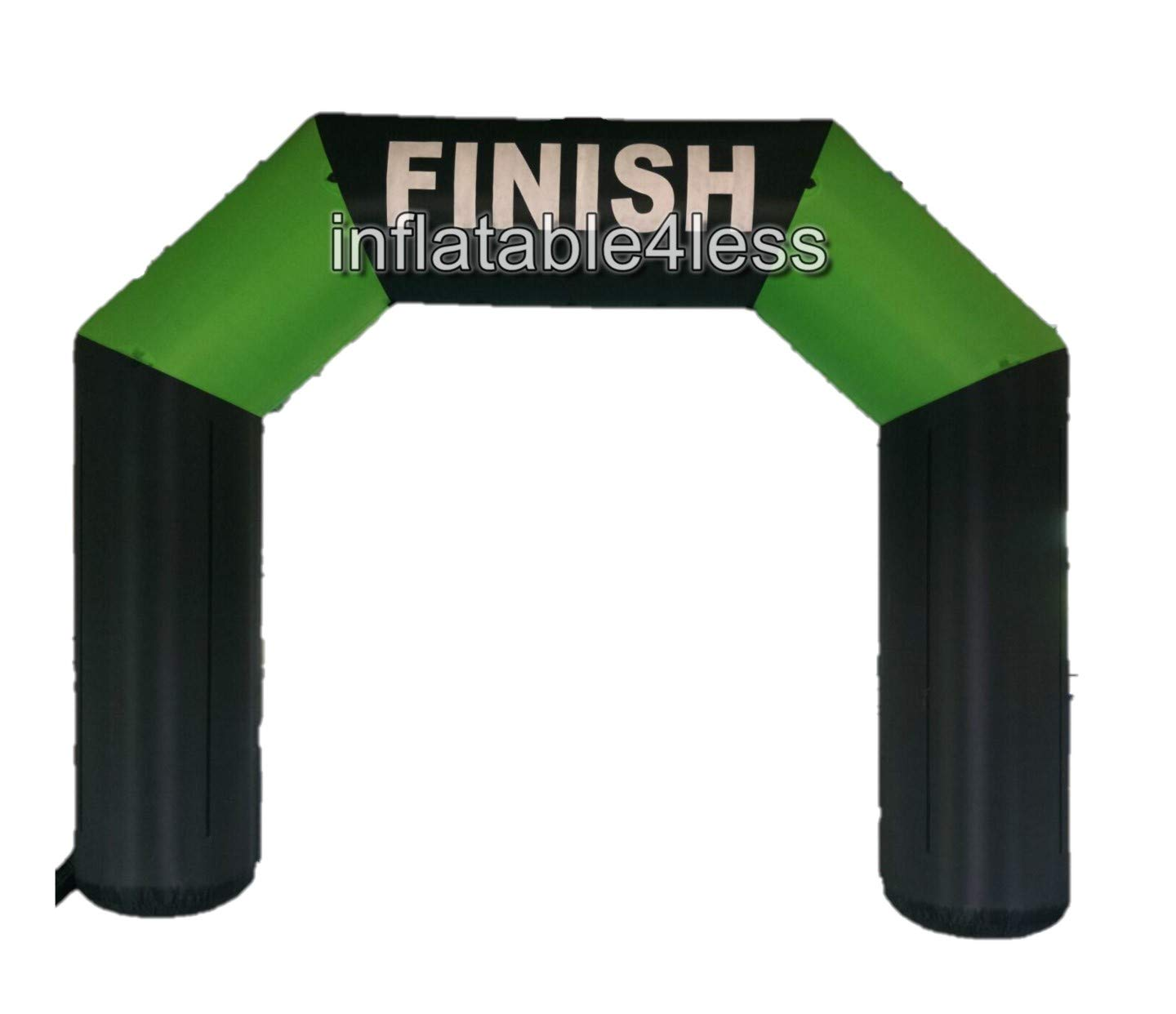 inflatable4less 16ft Two-Tone Inflatable Arch Archway w/Fan Made-to-Order (Blackgreen)