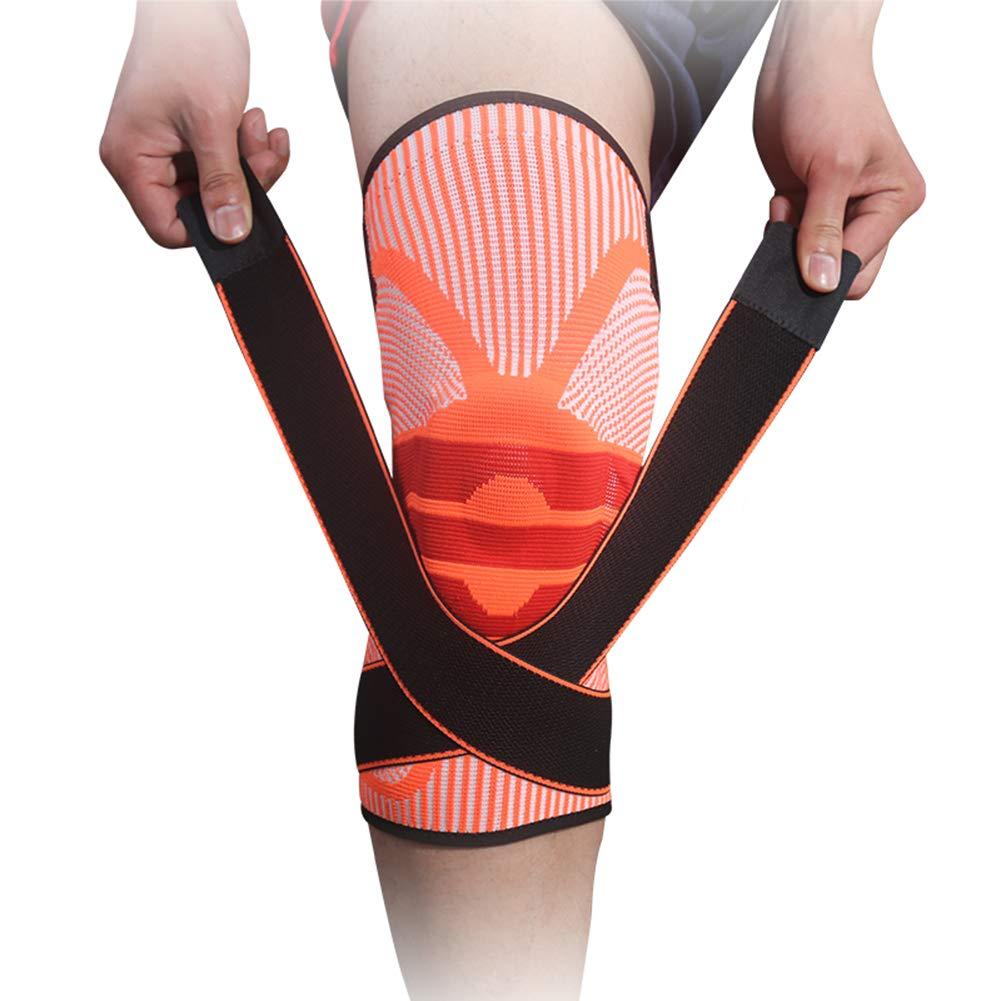 Orange Warmth Supplies Kneepad (2) Les genouillères de Sport en Cours d'exécution Squat Professionnel Genou Prougeecteur ménisque blessures Chaudes genouillères de Fitness XL