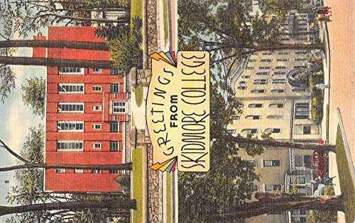 Saratoga Springs New York Skidmore College Multiview Antique Postcard - Saratoga Springs Stores In
