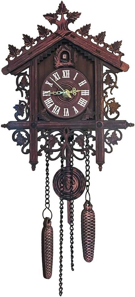 twany Black Forest Hand-Carved Cuckoo Clock House Home Decor. LEODUO Cuckoo Clocks Black Forest Wooden Cuckoo Clock