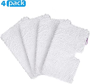 4 Pack Microfiber Steam Pocket Mop Pads Compatible for Shark Rectangle Mop Head S3500 Series ,S3501 ,S3601 ,S3550 ,S3901 ,S3801 ,SE450 ,S3801CO, S3601D ,SE450, Model # P119W,Machine Washable, Reusable
