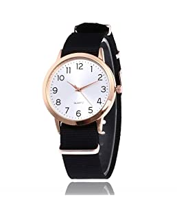 Loweryeah Male and Female Nylon Outdoor Sports Quartz Watch
