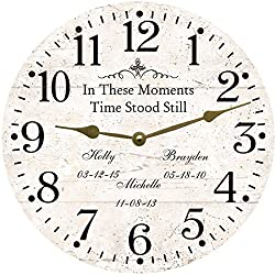 In These Moments Time Stood Still Clock. Personalized Time Stood Still Clock