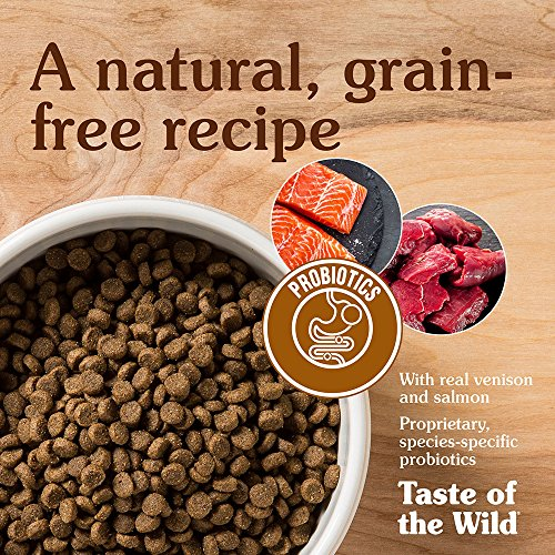 Taste of the Wild Rocky Mountain Grain Free Protein Real Meat Recipe Natural Dry Cat Food with Real Roasted Venison & Smoked Salmon 15lb