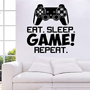Summerjokes Funny Game Wall Decals, Funny Video Game Boy Wall Sticker, Video Game Room Playroom Bedroom Wall Decor, Gift for Game Boy Son Kid Friend