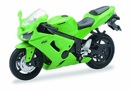 Amazon.com: 1: 18 Escala Fundido motocicleta – Verde ...