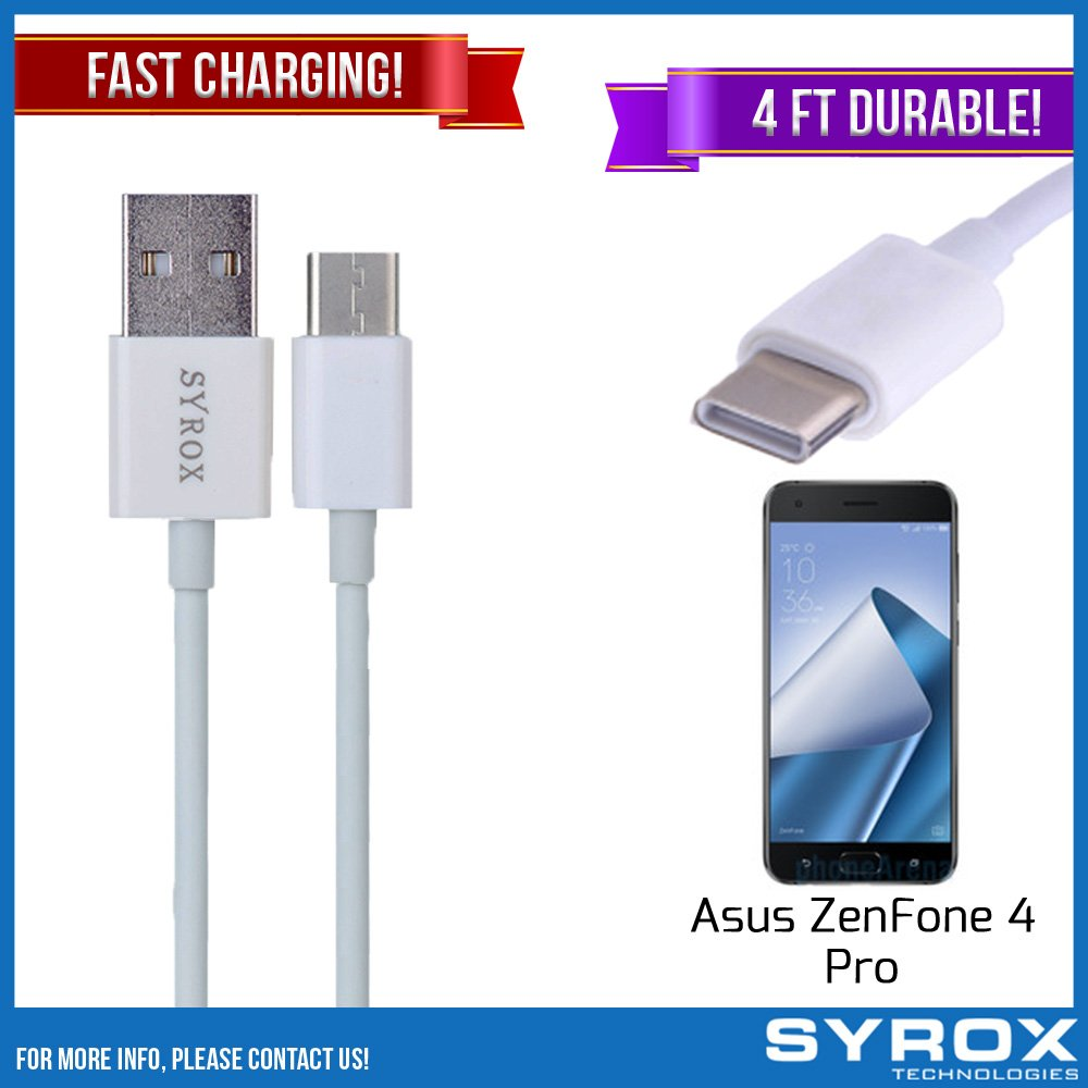 Syrox 20-Pack USB Type-C Cable, Reversible 4 ft Ultra Durable Fast Charging for Asus ZenFone 4 Pro, Samsung Galaxy Note 8, S8 Plus, LG V30, V20, G6, G5, Google Pixel, 6P, Nintendo Switch and All