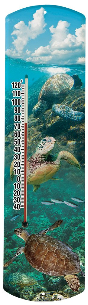 Heritage America by MORCO 375STURT Sea Turtle Outdoor or Indoor Thermometer, 20-Inch