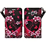 samsung galaxy s3 flip cases - Galaxy S3 Case, Samsung Galaxy S3 Wallet Case, Wrist Strap Flip Folio [Kickstand Feature] Pu Leather Wallet Case with ID&Credit Card Slot For S3 - Hot Pink Heart Sensation