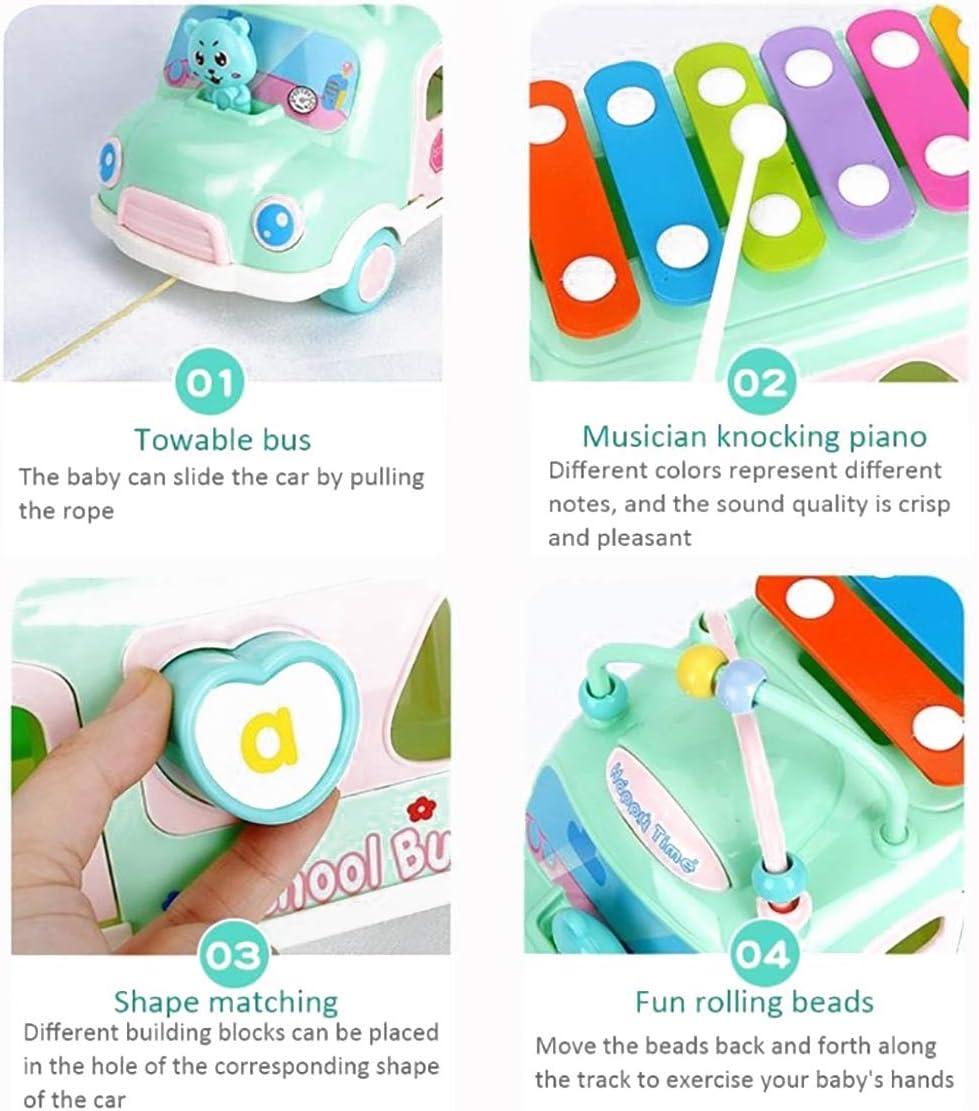 TYUE Piano Bus Klopfen Kinderspielzeug Wrapping Bead Ziehen