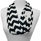 Shop Pop Fashion - Chevron Scarf for Women - Zipper Pocket Storage for Phone and Keys