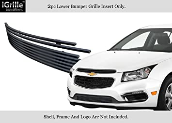 Fits 2015-2015 Chevy Cruze Main Upper Stainless Steel Black Billet Grille Insert