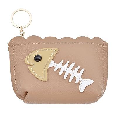 YNuth Porte-monnaie Arête Design Kawaii Style Accessoire Sweety (brun foncé)