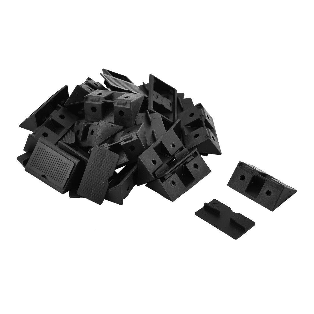 20 Stk Möbel Kunststoff Winkelträger Verschluss Abdeckungen Schwarz 42x28x15mm