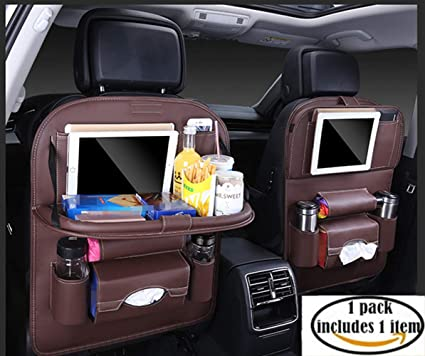 Jiadi Si Car Seat Protector Backseat Organizer Table Tray Foldable Dining With