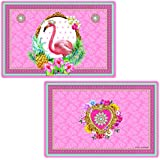 R2S 320flam Placemat Double-Sided Design 45??x 30??x 0.1??cm Plastic Multi-Coloured Flamingo by R2S