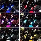 Car LED Strip Light, EJs SUPER CAR 4pcs 36 LED Multicolor Music Car Interior Light LED Under Dash Lighting Kit and Wireless Remote Control,Car Interior Led Lights,DC 12V