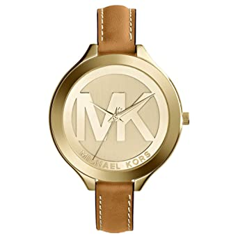 c84686fe5ea1 Amazon.com  Michael Kors Brown Slim Runway Watch  Michael Kors  Watches