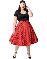 Oriention Women's Plus Size Audrey Hepburn Vintage 50s Classic Swing Pinup Rockabilly Dress