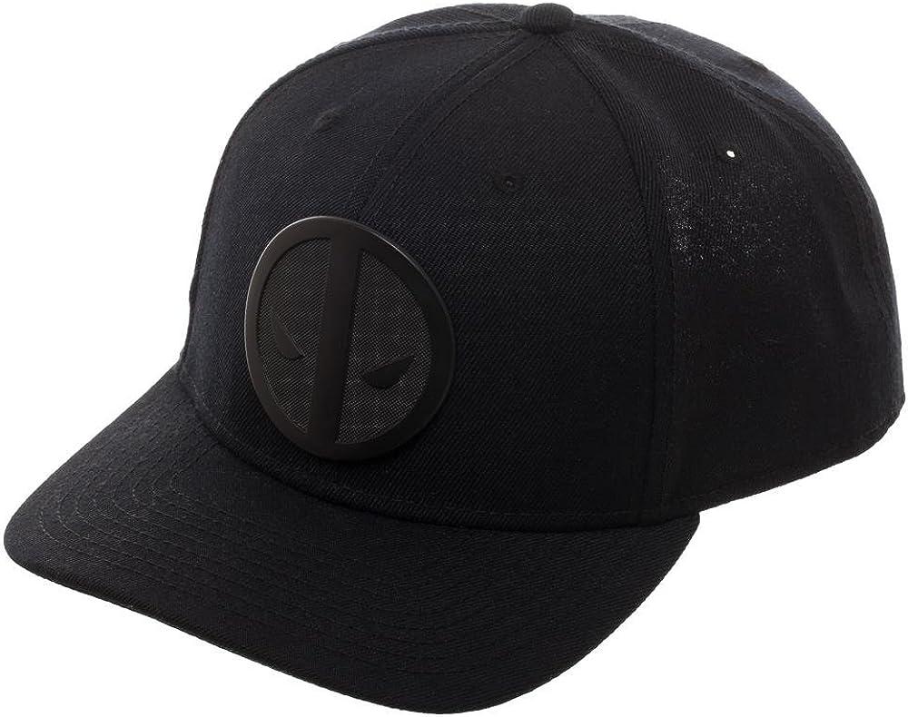 OFFICIAL MARVEL COMICS DEADPOOL SYMBOL BLACK /& WHITE SNAPBACK CAP BRAND NEW