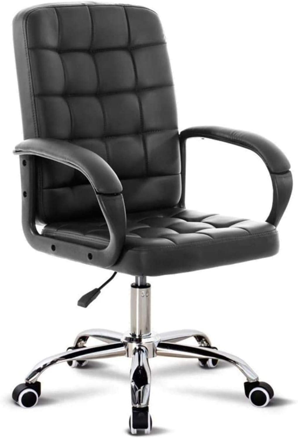 HJW Office Chair Can Reduce Back Pain Air Lift Chair Height Can Adjustment and Lock Armchair,Black