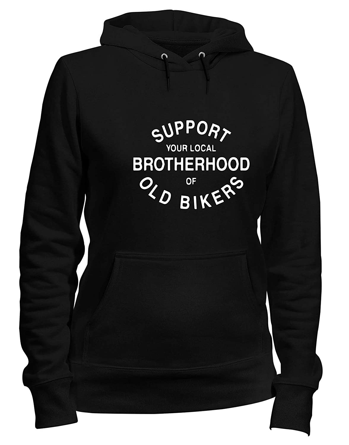 Speed Shirt Felpa Donna Cappuccio Nero TB0114 Support Your Local Brotherhood