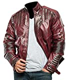 UGFashions Men's Superhero Leather Costume Jacket