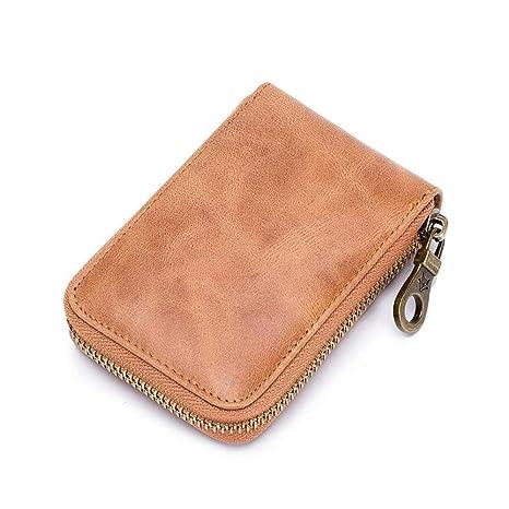 be76709af012 Waketree RFID Genuine leather Card Holder Wallets For Women Men ...