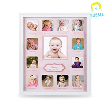 Amazoncom Collage Photo Frame For Baby First Year Keepsake
