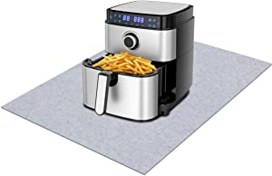 Air Fryer mat,Under small appliance mat—Absorbent/Waterproof ,Prevent grease from splashing on the kitchen table, absorbent material, non-slip and waterproof backing, washable (24