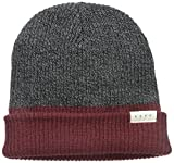 neff Men's Duo Beanie, Maroon Heather/Charcoal Heather, One Size