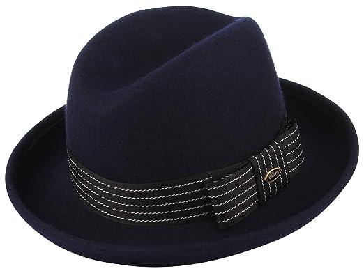 GEMVIE Damen Filzhut Fedora Hut 100/% Wolle Cowboyhut Trilby-Hut Kappe Herren M/ütze