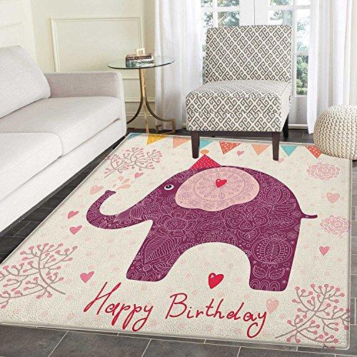 Kids Birthday Area Silky Smooth Rugs Asian Paisley Motif Ima