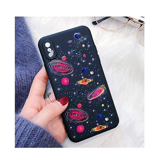 cheap for discount 883a6 9a05b Amazon.com: Fashion Space Phone Case for iPhone X Case for iPhone 6S ...