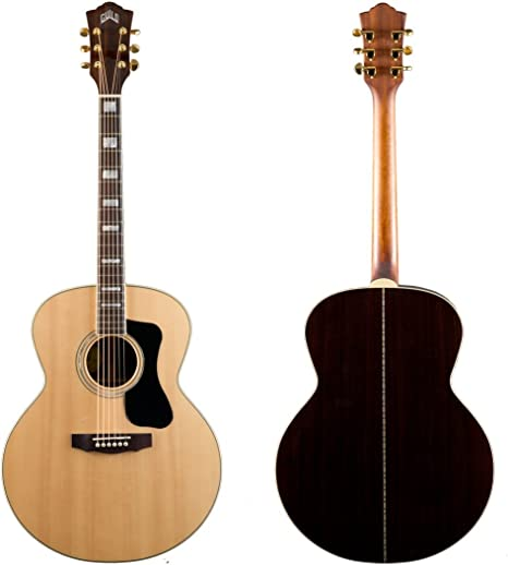 Hermandad Gad f-150r Jumbo guitarra acústica – Natural con funda ...