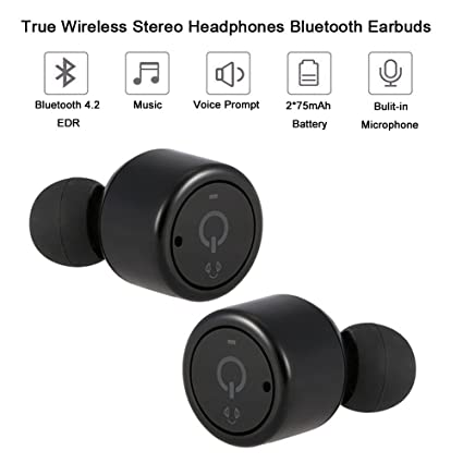Yizhet Mini Auriculares Bluetooth,Auriculares Bluetooth 4.2 Earphone Twins Stereo Ear-buds Manos Libre