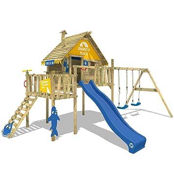 Parque infantil de madera WICKEY Smart Resort casa de juego ...