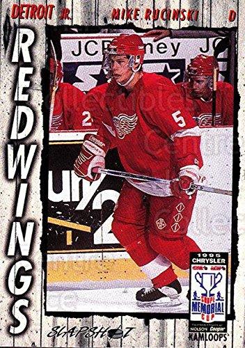 - (CI) Mike Rucinski Hockey Card 1995-96 Slapshot Memorial Cup 79 Mike Rucinski