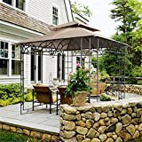 CO-Z On Clearance Patio Garden Gazebo 10'x10' Outdoor Gazebos and Canopies with Ultra-durable & Reinforced Steel Frame and Double Canopy Roof