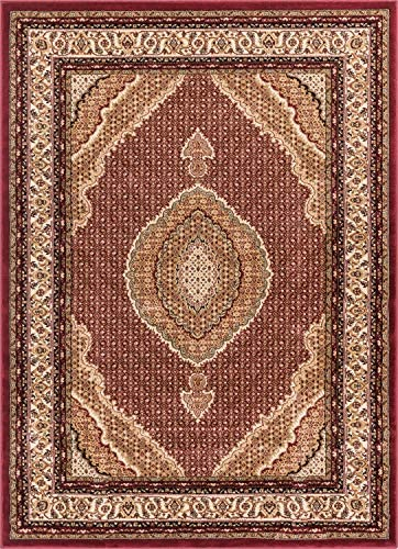 Well Woven Gallery Medallion Red Traditional Oriental Persian 8×10 7 10 x 10 6 Area Rug