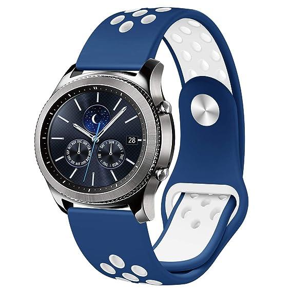 Amazon.com: Samsung Gear S3 Frontier/bandas de reloj clásico ...