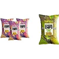 Barnana Organic Plantain Chips - Himalayan Pink Salt- 5 Ounce, 3 Pack & Organic Plantain Chips - Acapulco Lime - 5 Ounce…