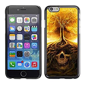 LASTONE PHONE CASE / Slim Protector Hard Shell Cover Case for Apple Iphone 6 / Fire Tree Skull Meaning Death Metal