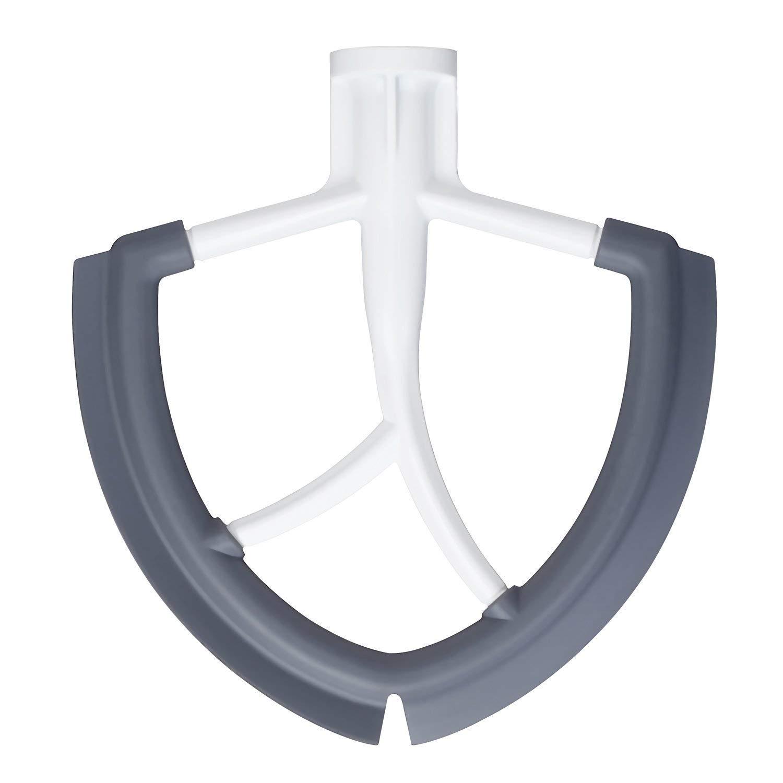 Kalolary Flex Edge Beater, 6 frullini piatti con bordi in silicone per KitchenAid Bowl-Lift Mixer